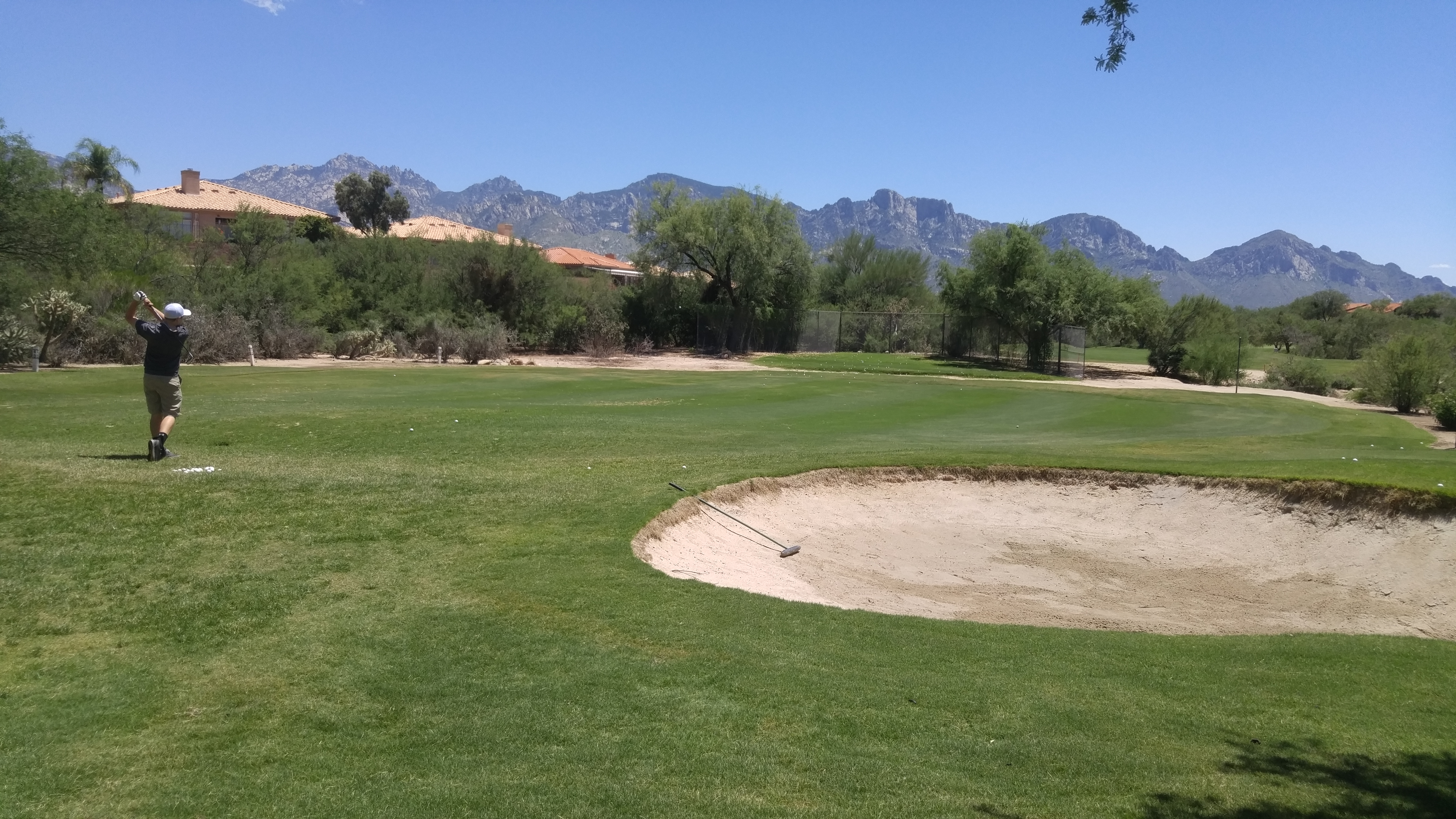 Practice your short game at The Views Golf Club chipping area