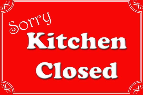 Kitchen Closed for Special Event – Sunday, April 30