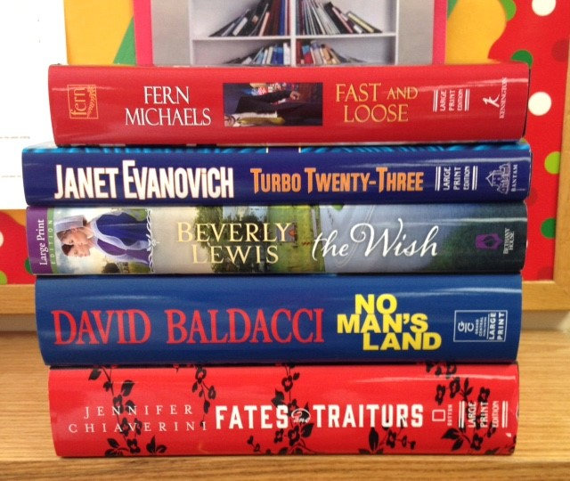 Books by bestselling authors in large print