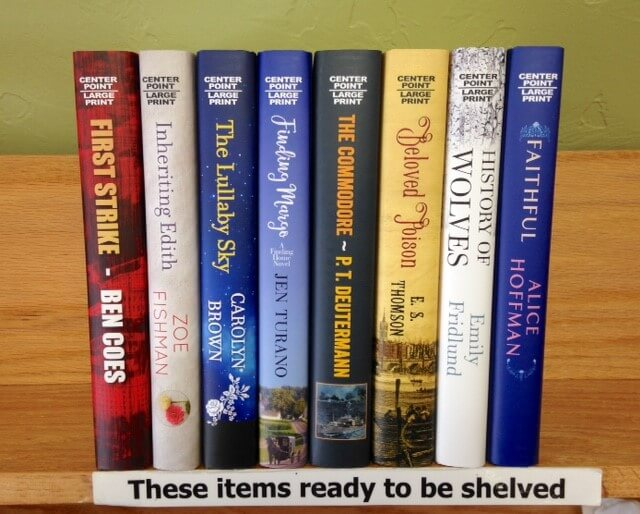 New arrivals in large print at the SCOV Library