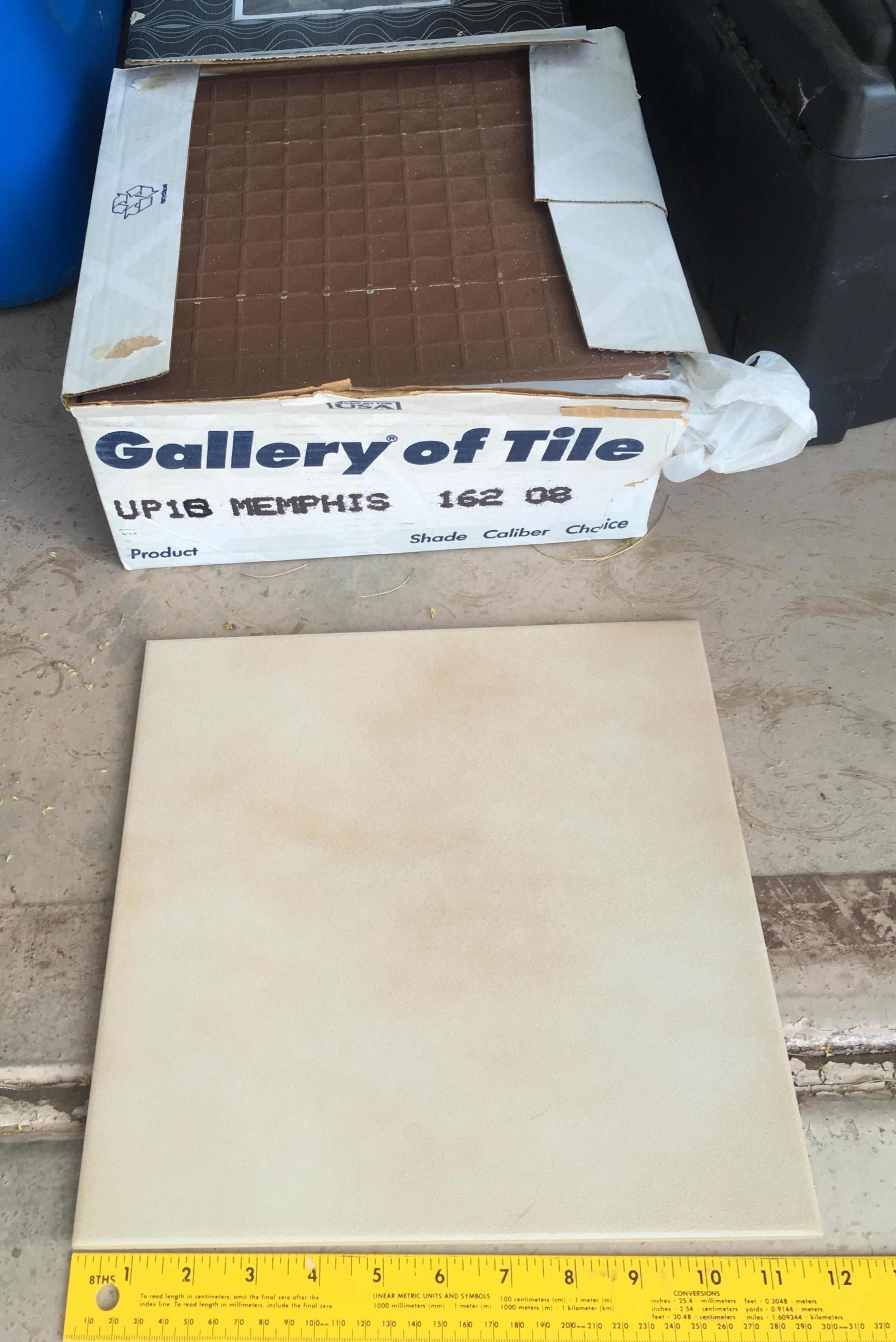 Box of Floor Tiles   Sun City Oro Valley