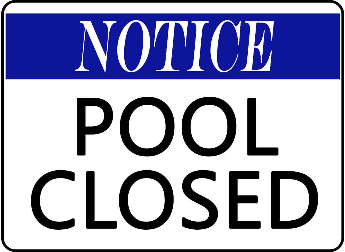 Pool Closure 10/15-11/2