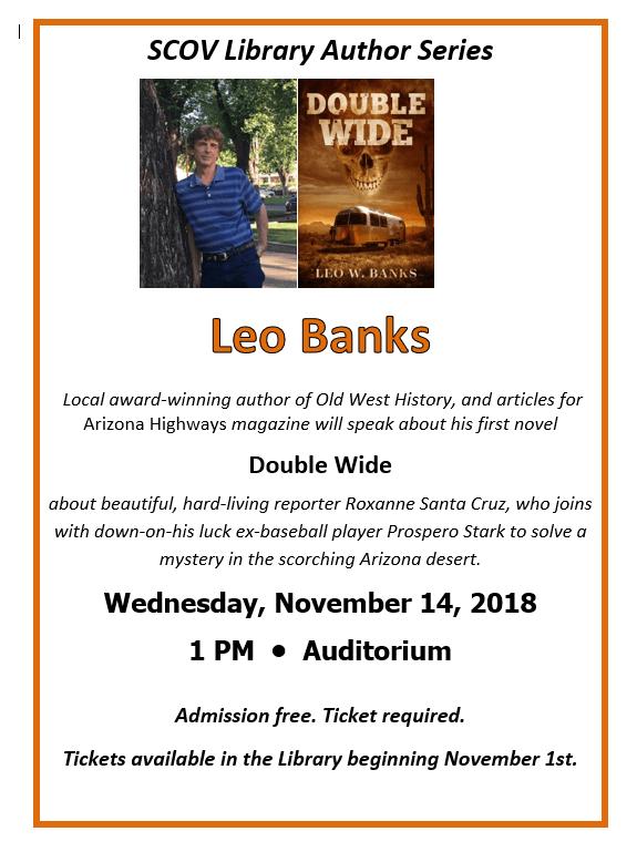 Author Leo Banks Event