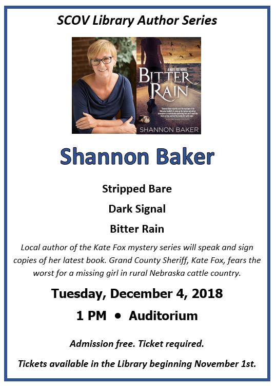 Author Shannon Baker Event