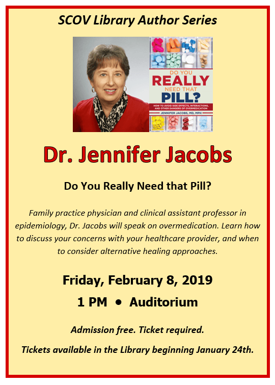 Author Dr. Jennifer Jacobs event