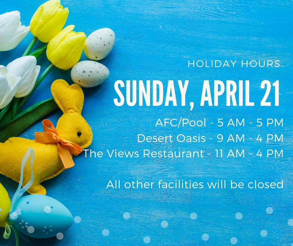 Holiday Hours – 4/21