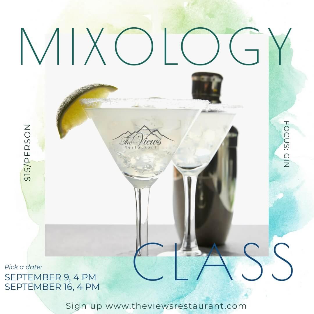 Mixology Class – September 9 or 16