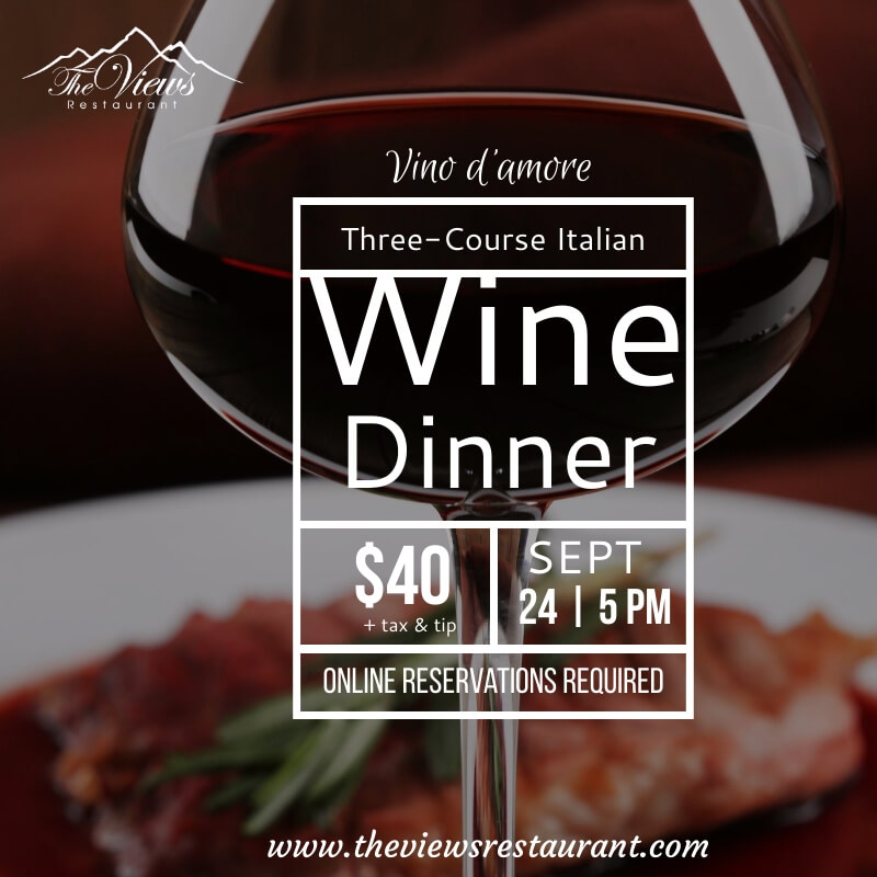 Three-Course Italian Wine Dinner – 9/24