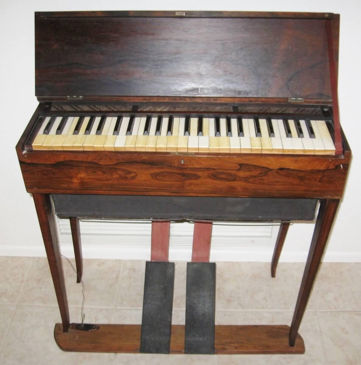 Antique (1800s) Wooden Pump Organ with Folding Legs
