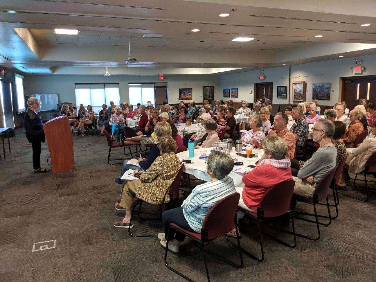 Big crowd at Great Reads Book Talk