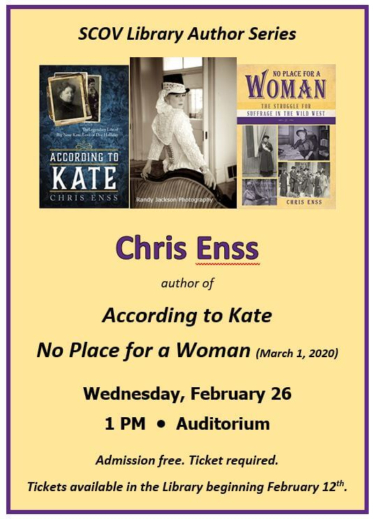 Author Chris Enss Event 2/26/20