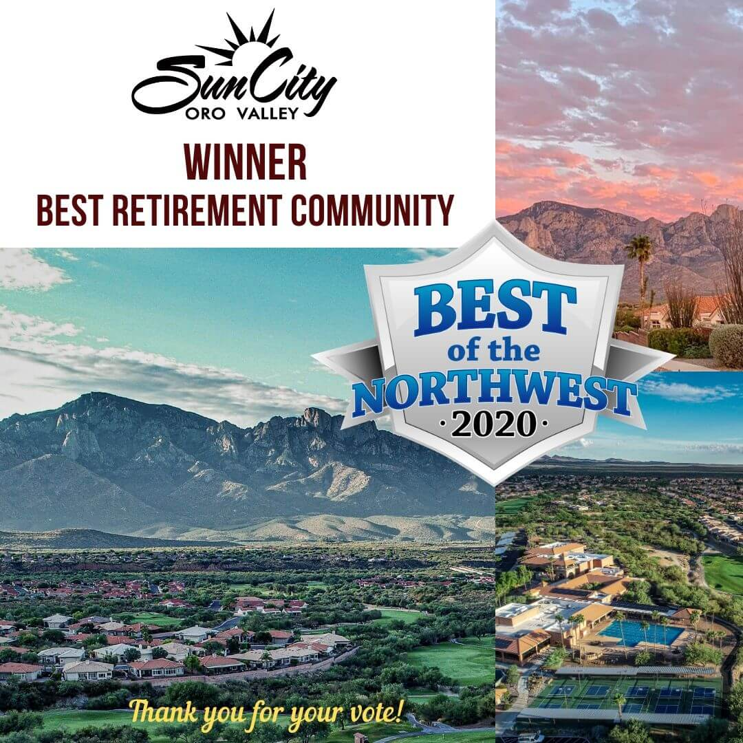 Sun City Oro Valley Voted Best Retirement Community