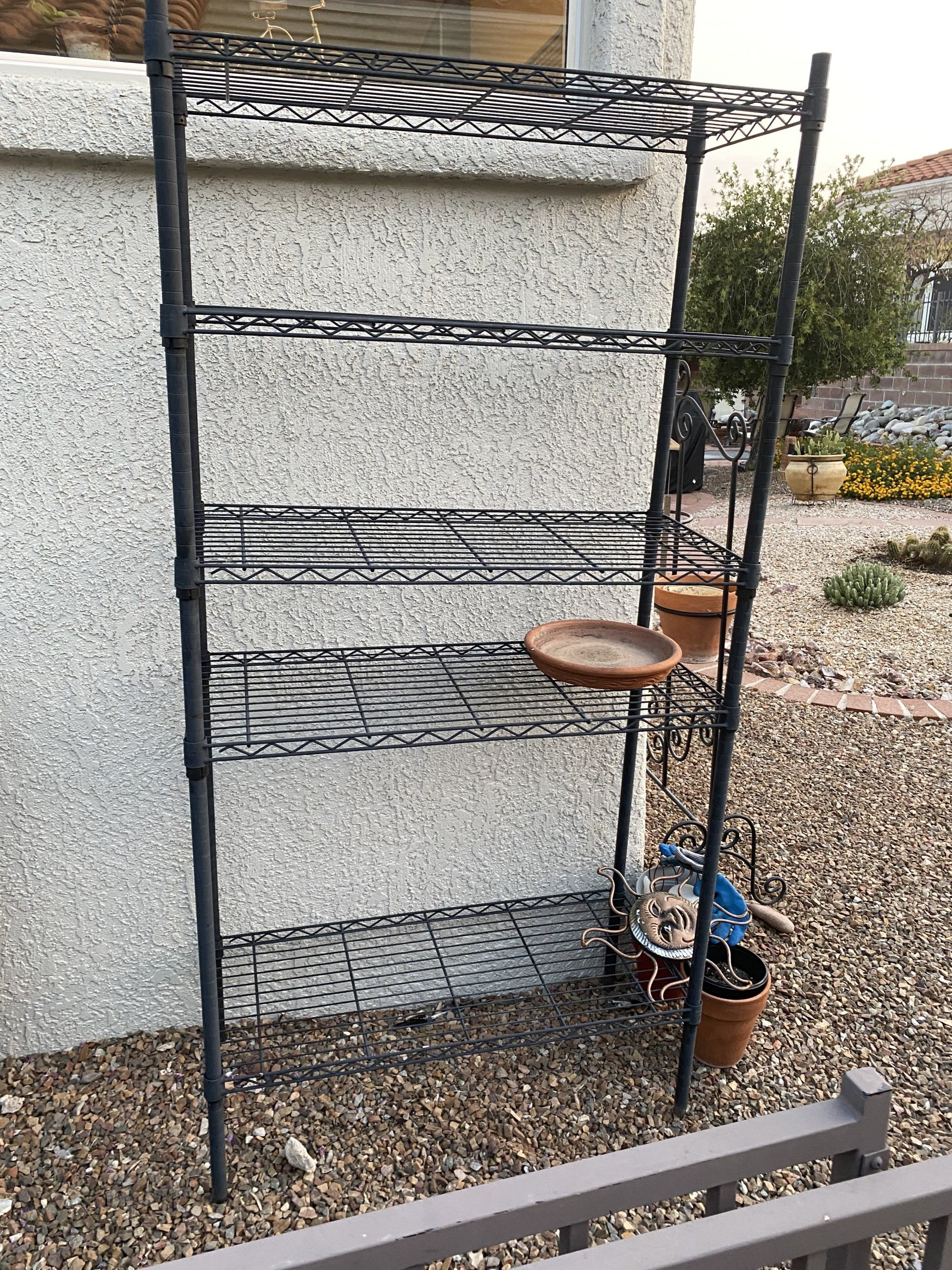 Outdoor or garage shelf