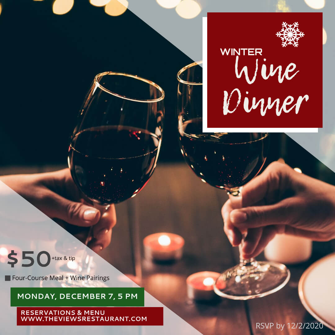 Winter Wine Dinner, December 7