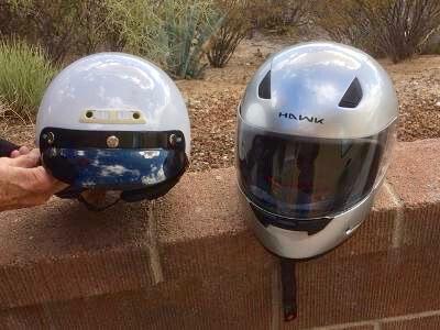 2 Motorcycle Helmets XL