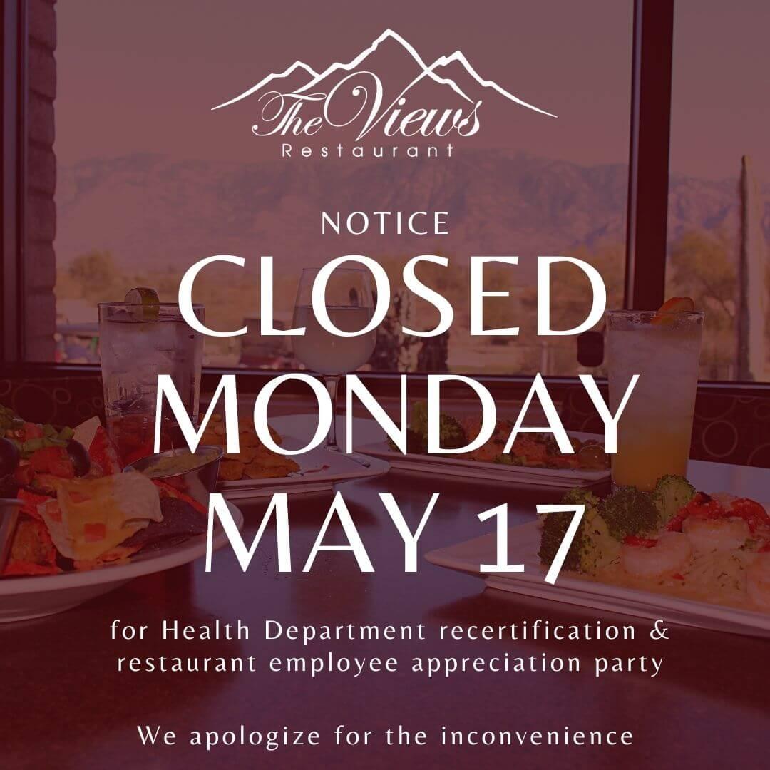Closed Monday, May 17
