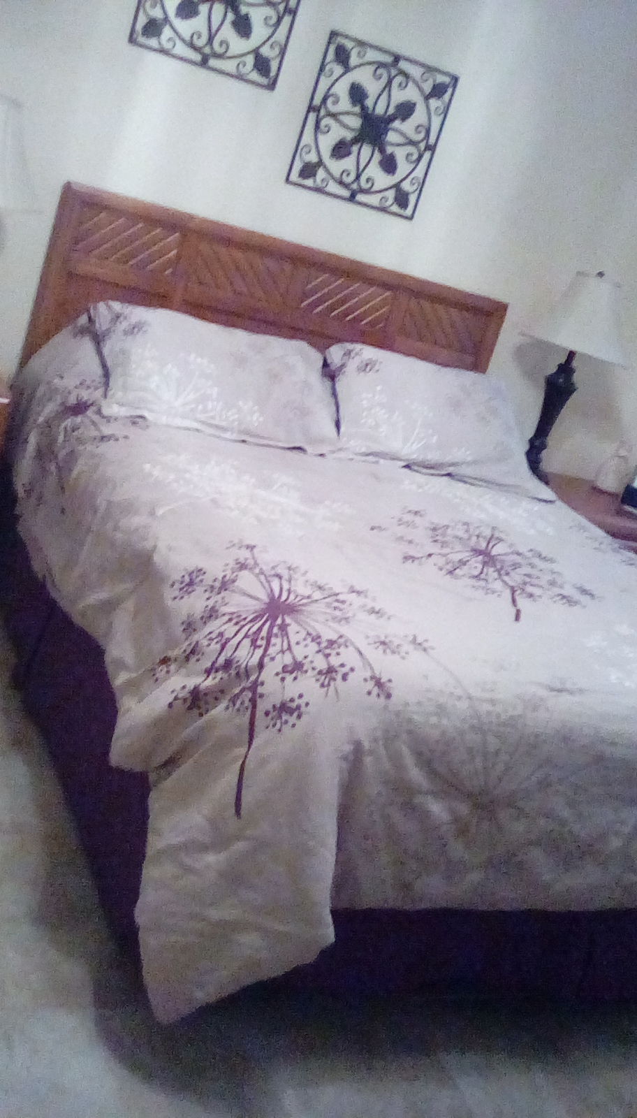 Queen Bed and Nightstand